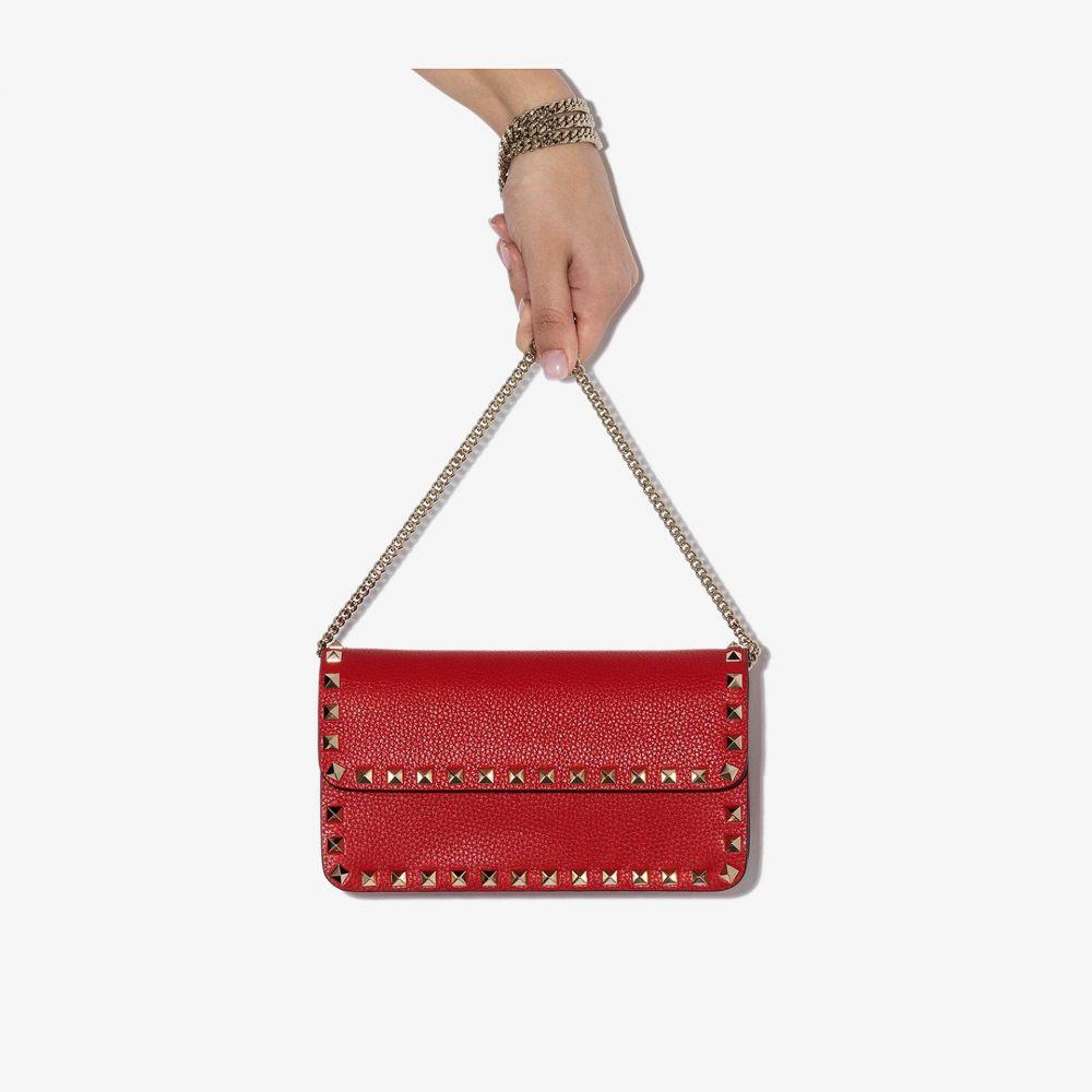 ヴァレンティノ Valentino レディース ショルダーバッグ バッグ【Red Garavani Rockstud leather shoulder bag】red