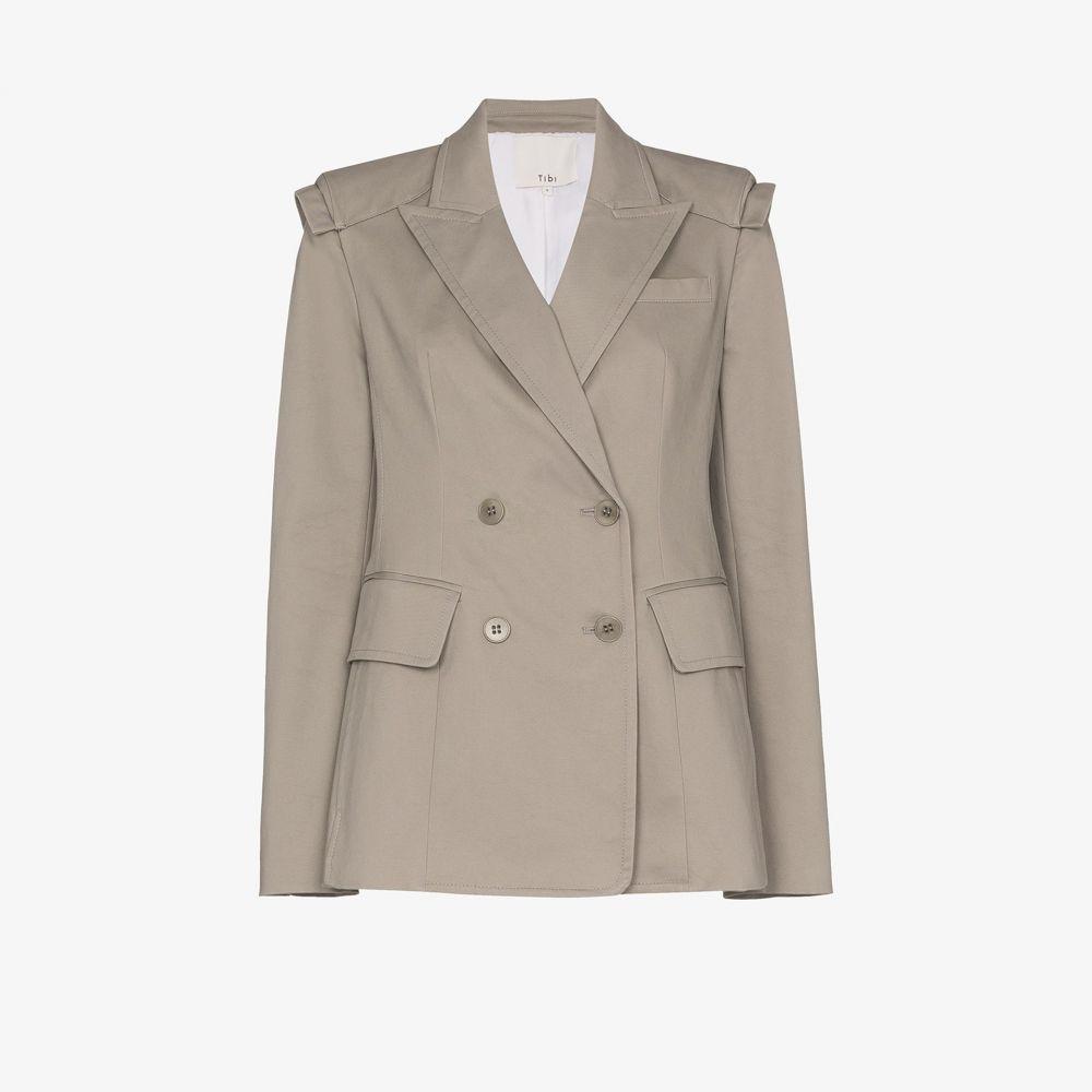 ティビ Tibi レディース スーツ・ジャケット アウター【Myriam sculpted blazer】grey