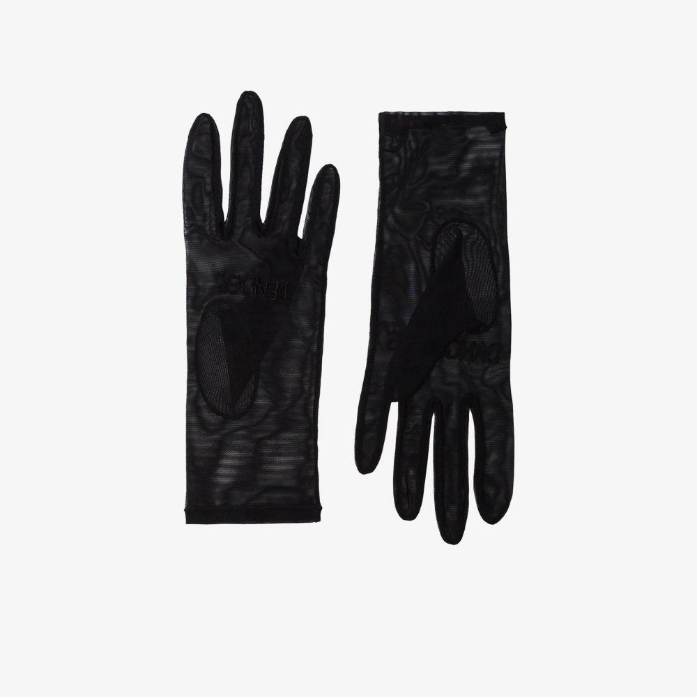 テンダー アンド デンジャラス Tender and Dangerous レディース 手袋・グローブ 【black embroidered logo tulle gloves】black