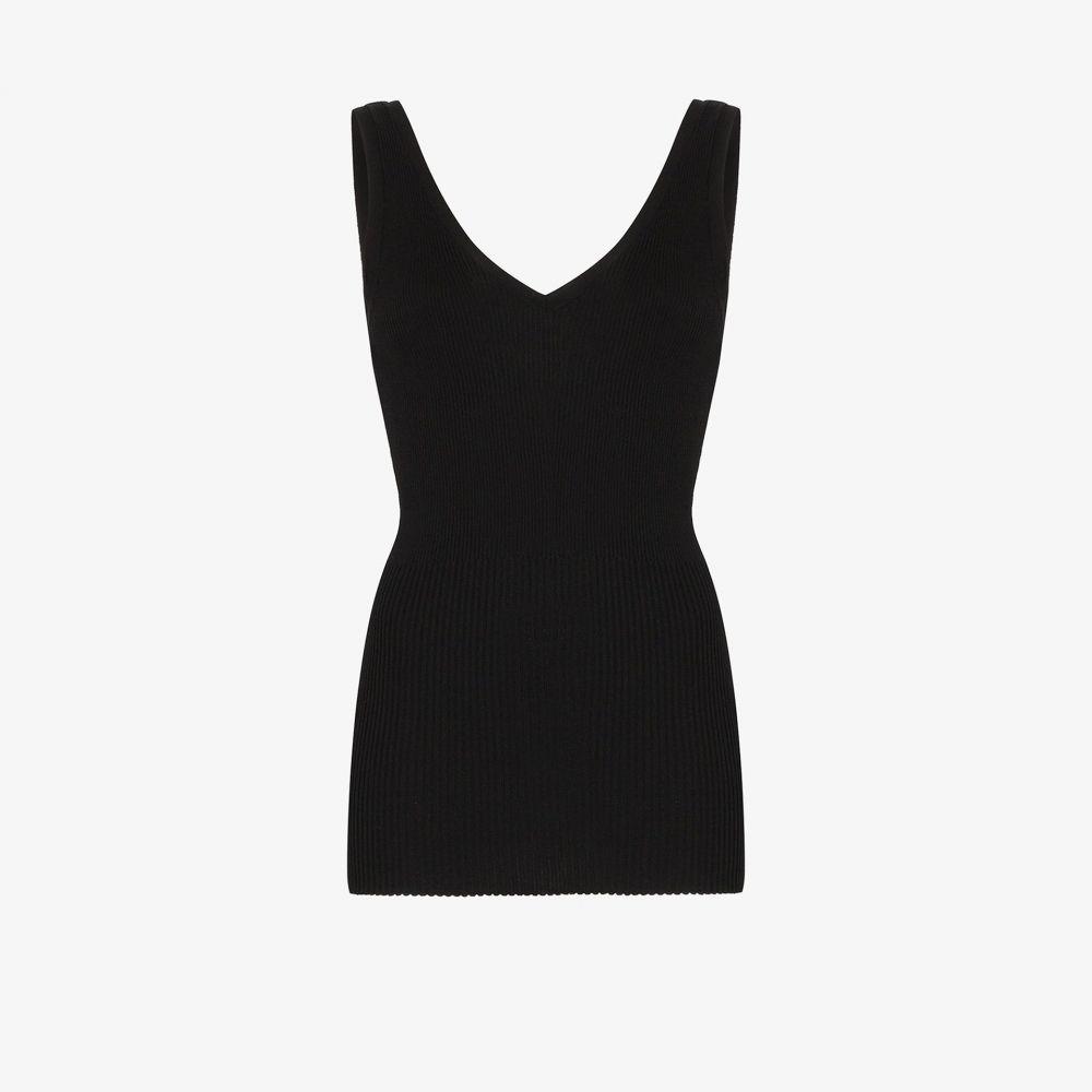 トーテム Toteme レディース ベスト・ジレ トップス【Nice ribbed vest top】black