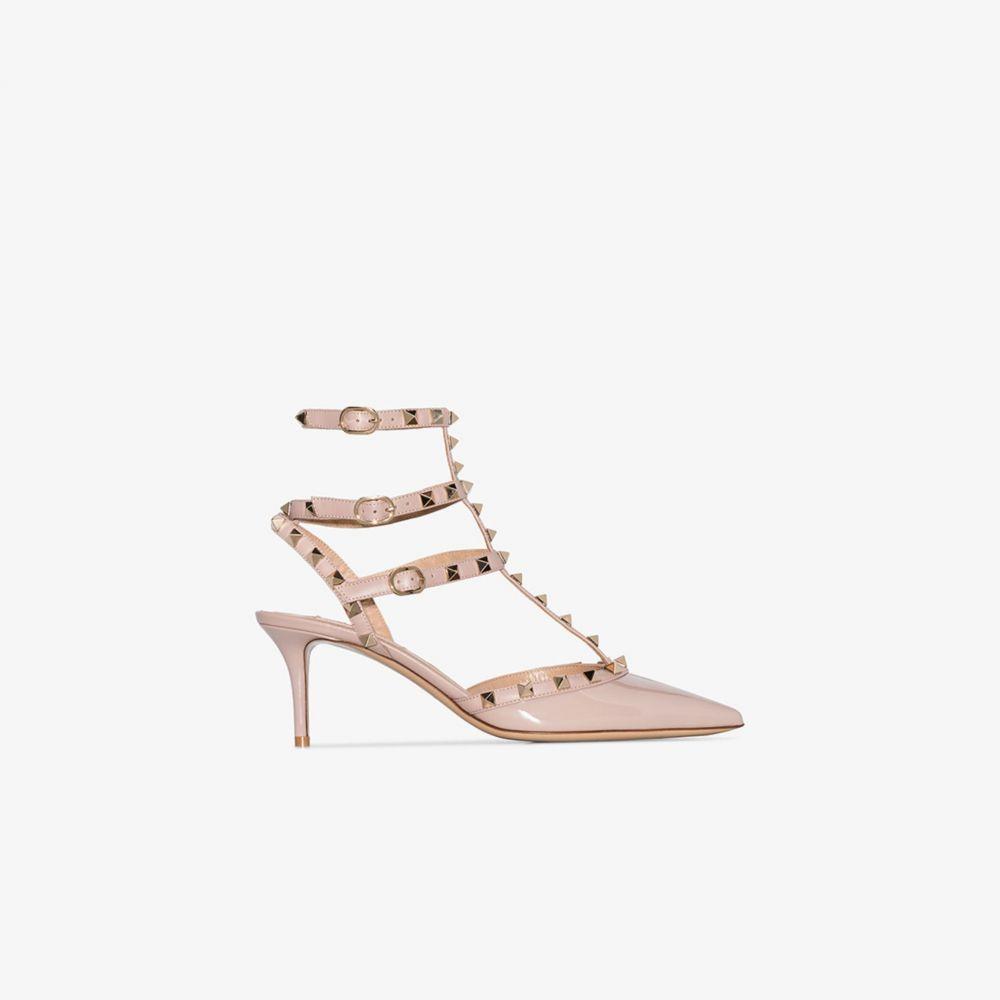 ヴァレンティノ Valentino レディース パンプス シューズ・靴【pink Garavani Rockstud 70 patent leather pumps】neutrals
