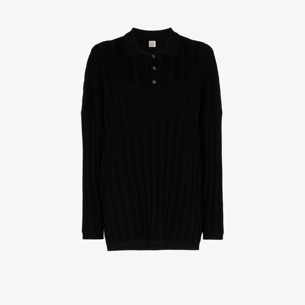 トーテム Toteme レディース ニット・セーター トップス【Bonifacio oversized ribbed sweater】black