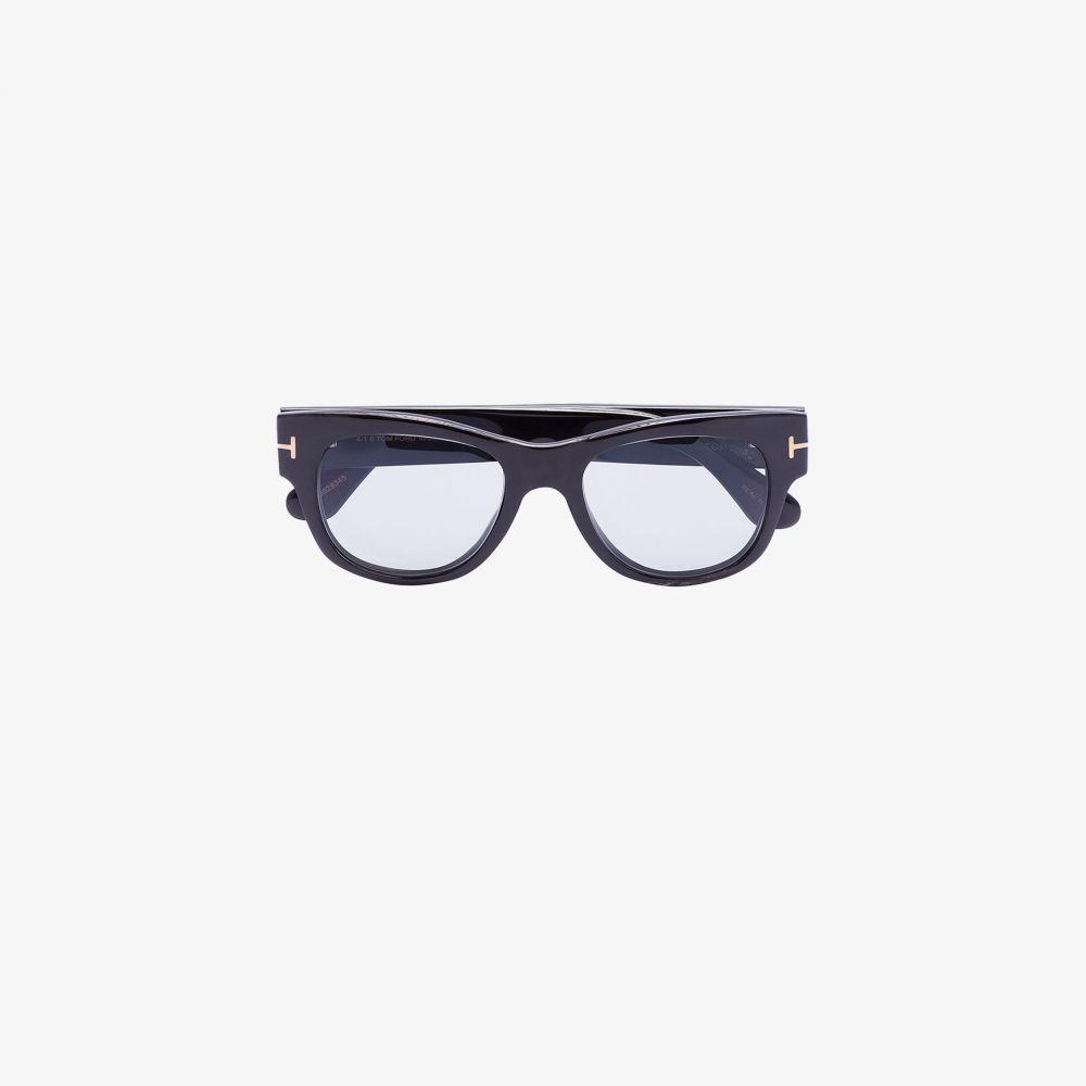 トム フォード Tom Ford Eyewear メンズ メガネ・サングラス ラウンド【black tinted round sunglasses】black
