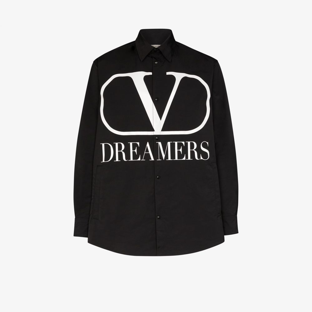 最も信頼できる ヴァレンティノ Valentino メンズ ジャケット シャツジャケット アウター【Dreamers logo shirt jacket】black, 御菓子処松月堂 f98ca8a0