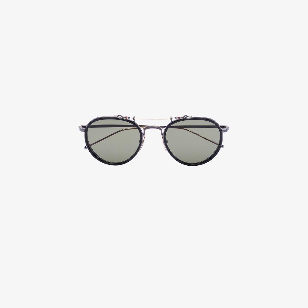 トムブラウン Thom Browne Eyewear メンズ メガネ・サングラス ラウンド【black round frame sunglasses】black
