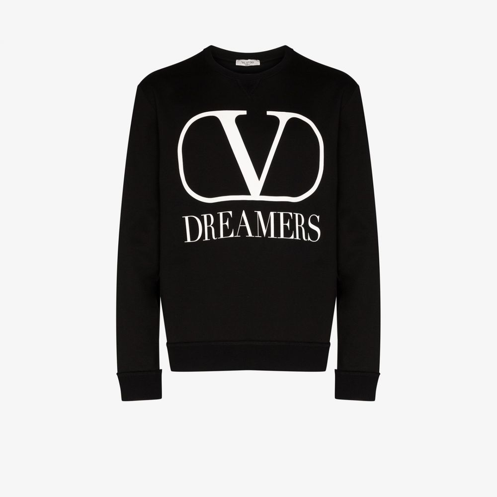 ヴァレンティノ Valentino メンズ スウェット・トレーナー トップス【Dreamers logo crew neck sweatshirt】black