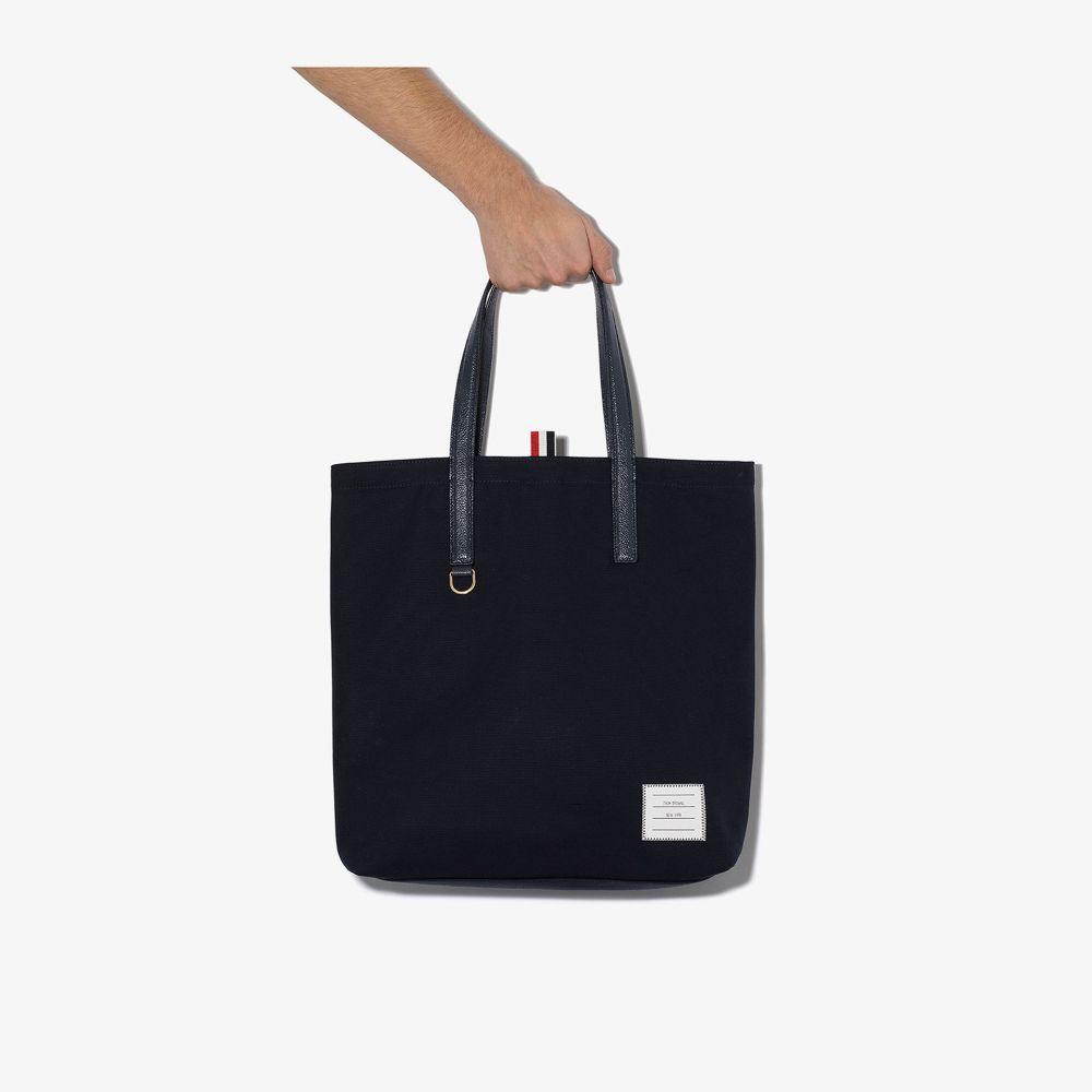 トム ブラウン Thom Browne メンズ トートバッグ バッグ【lined tote bag】blue