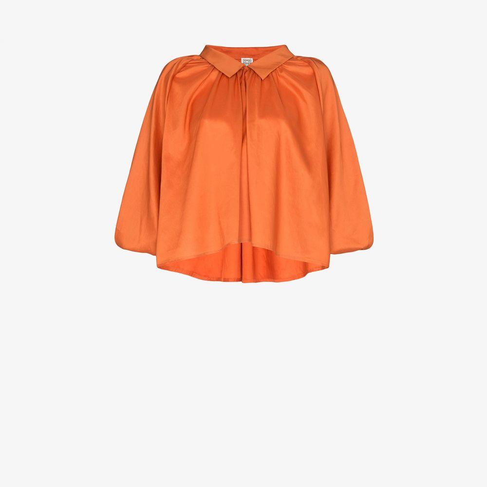 トーテム Toteme レディース ブラウス・シャツ トップス【Kerala collared pouf sleeve blouse】orange