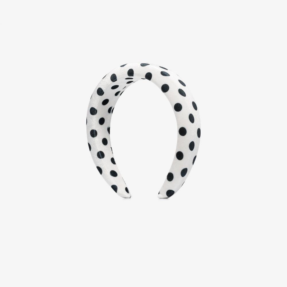 バレット スタジオ Valet Studio レディース ヘアアクセサリー ヘッドバンド【White Kylie polka dot velvet headband】white