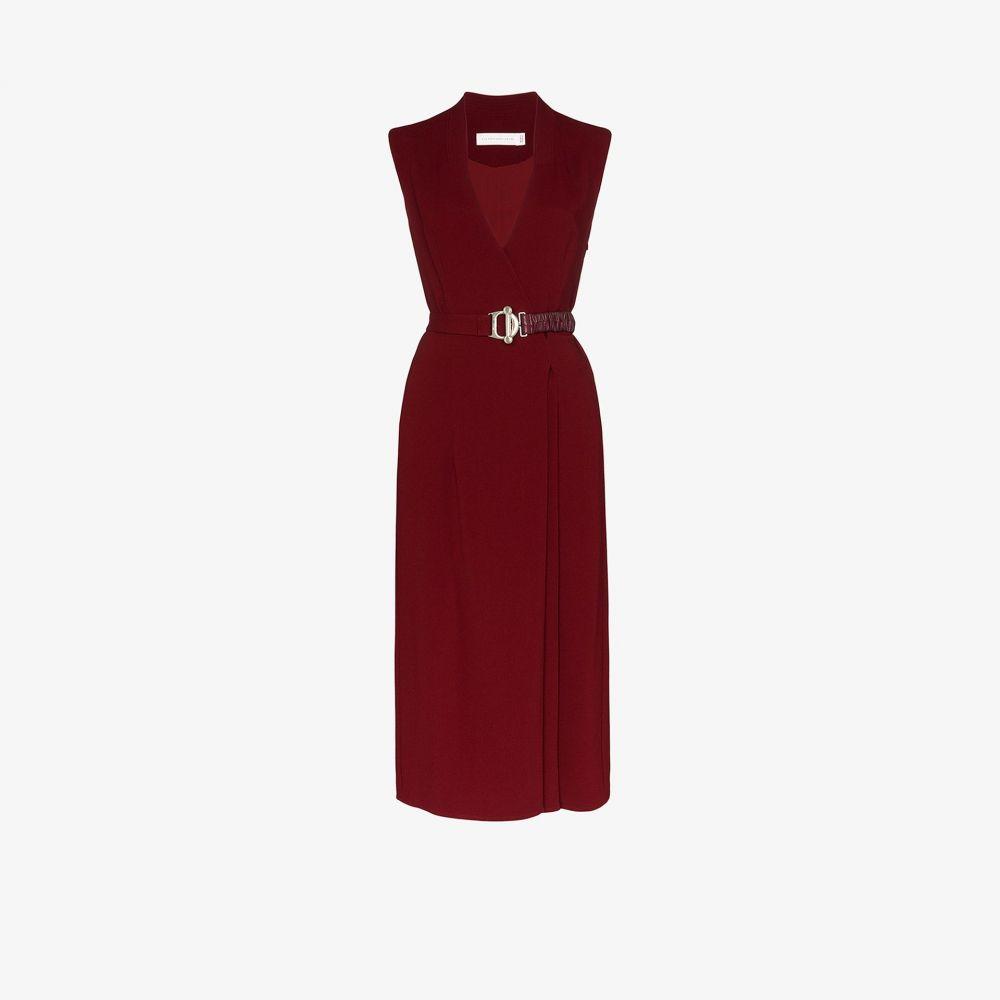 ヴィクトリア ベッカム Victoria Beckham レディース ワンピース ラップドレス ミドル丈 ワンピース・ドレス【belted wrap midi dress】red