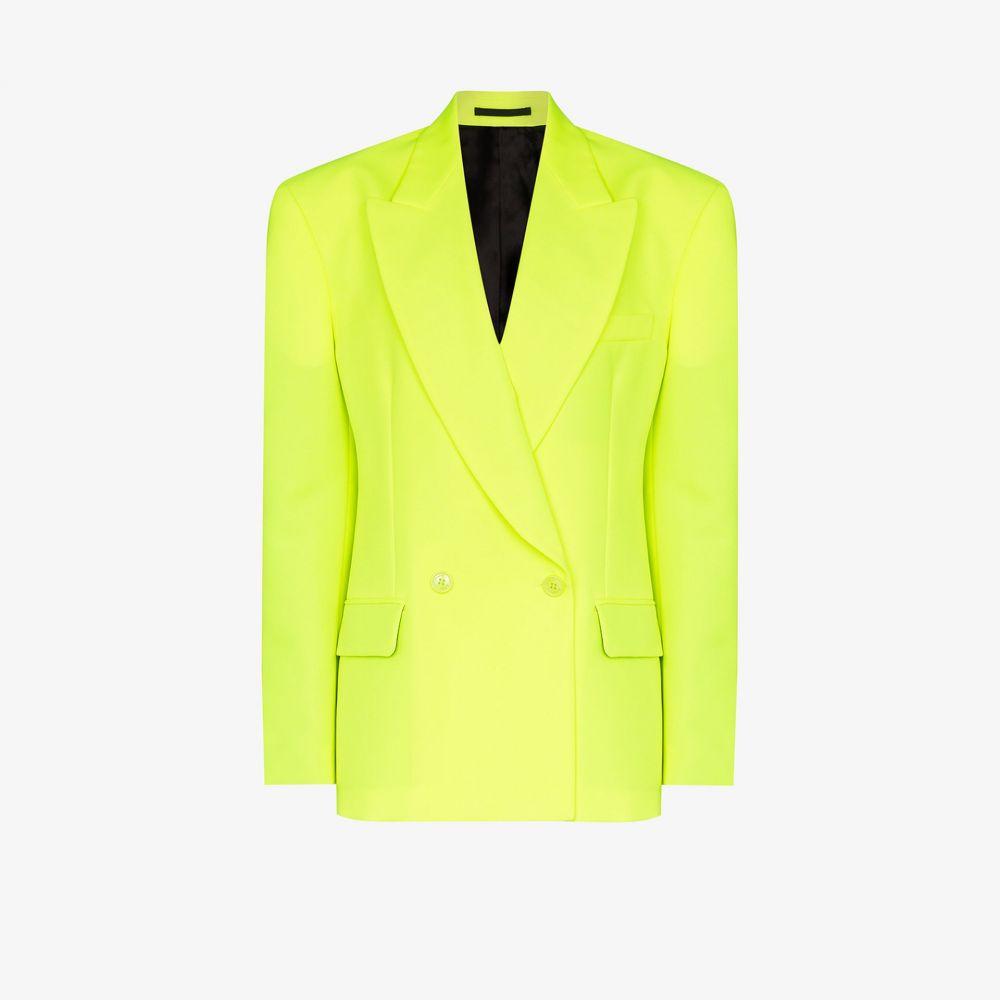 ヴェトモン Vetements レディース スーツ・ジャケット アウター【double-breasted fluorescent blazer】yellow