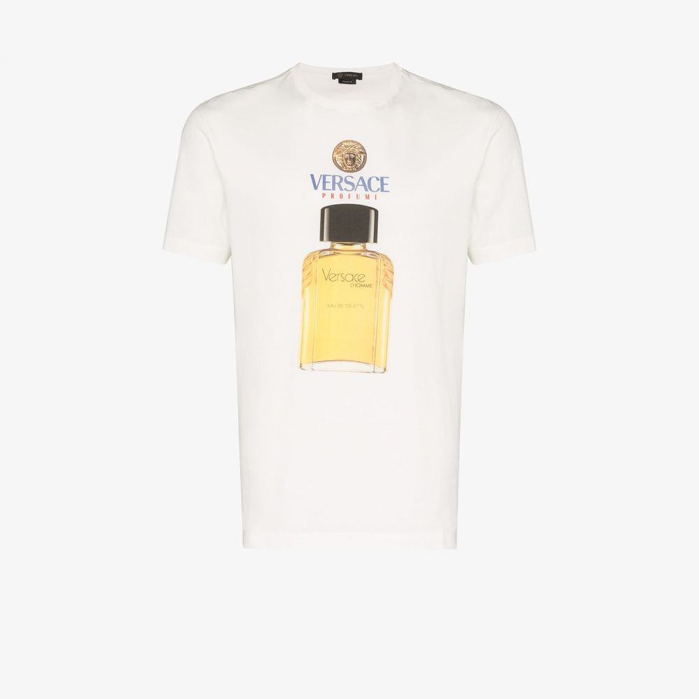 ヴェルサーチ Versace メンズ Tシャツ トップス【perfume logo T-shirt】white