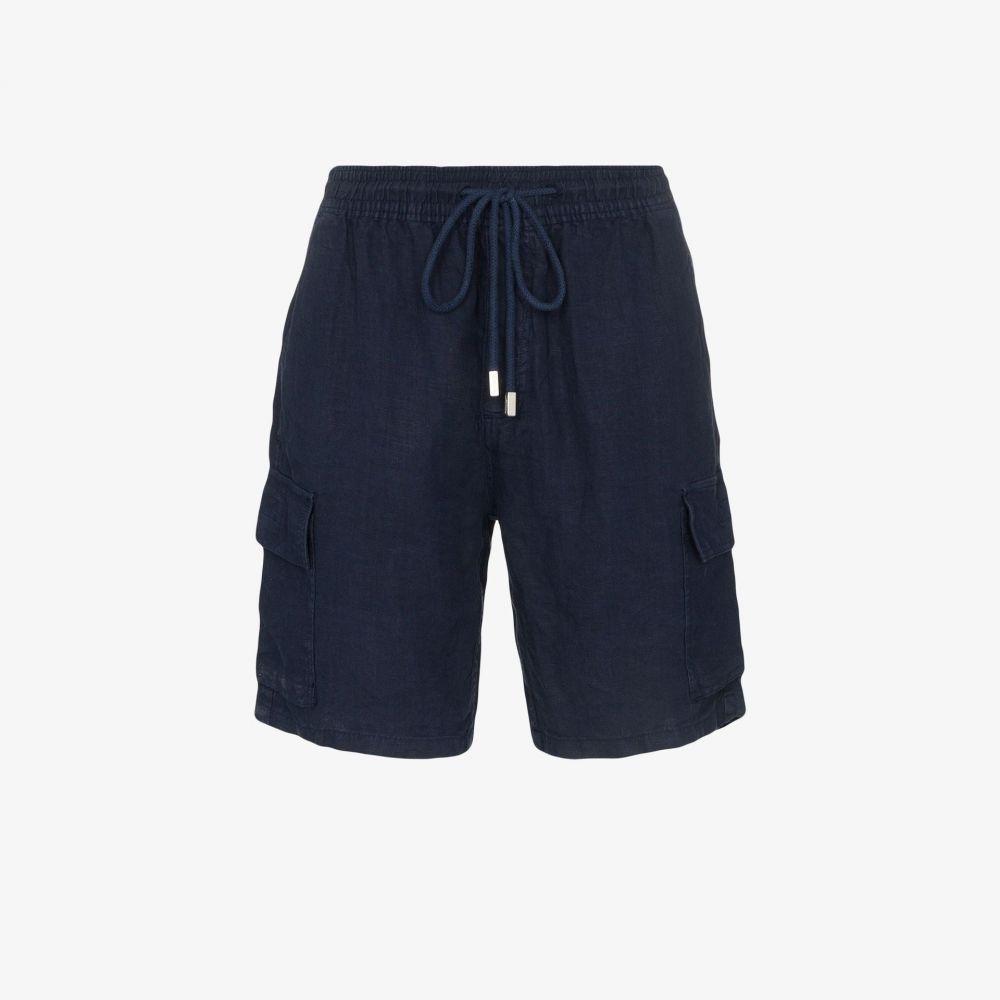 ヴィルブレクイン Vilebrequin メンズ ショートパンツ カーゴ ボトムス・パンツ【baie linen cargo shorts】blue