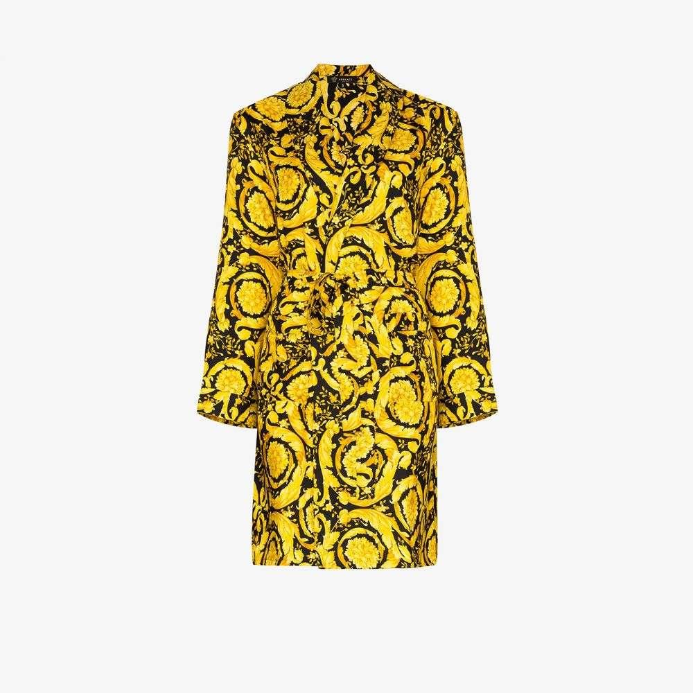 ヴェルサーチ Versace レディース ガウン・バスローブ インナー・下着【Baroque print dressing gown】black