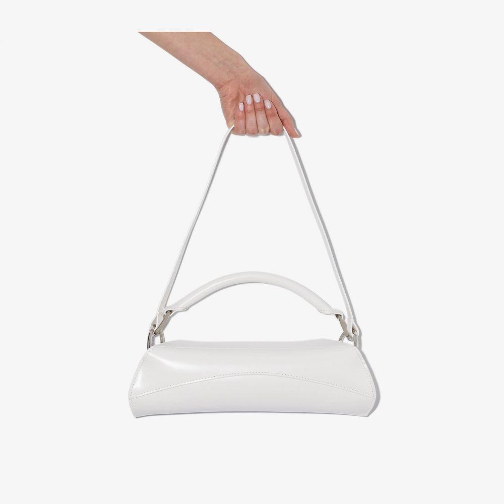 ヴェンツェル VENCZEL レディース ショルダーバッグ バッグ【White Elan leather shoulder bag】white