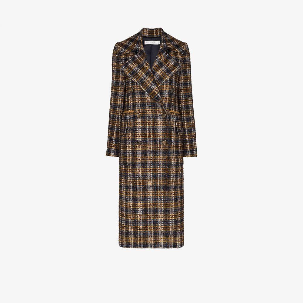 ヴィクトリア ベッカム Victoria Beckham レディース コート ダブルブレストコート アウター【Double-breasted tweed coat】blue