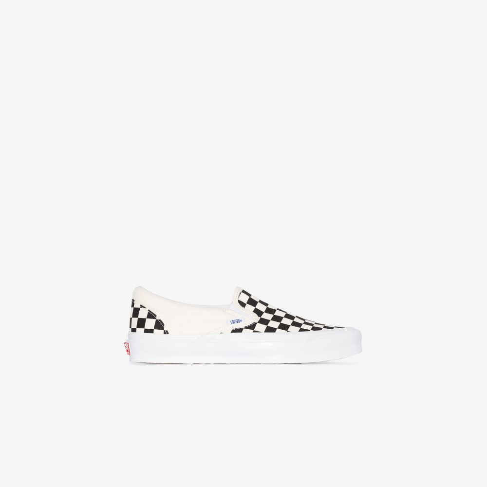 ヴァンズ Vans レディース スニーカー シューズ・靴【Black and white Old Skool Checkerboard slip-on sneakers】white