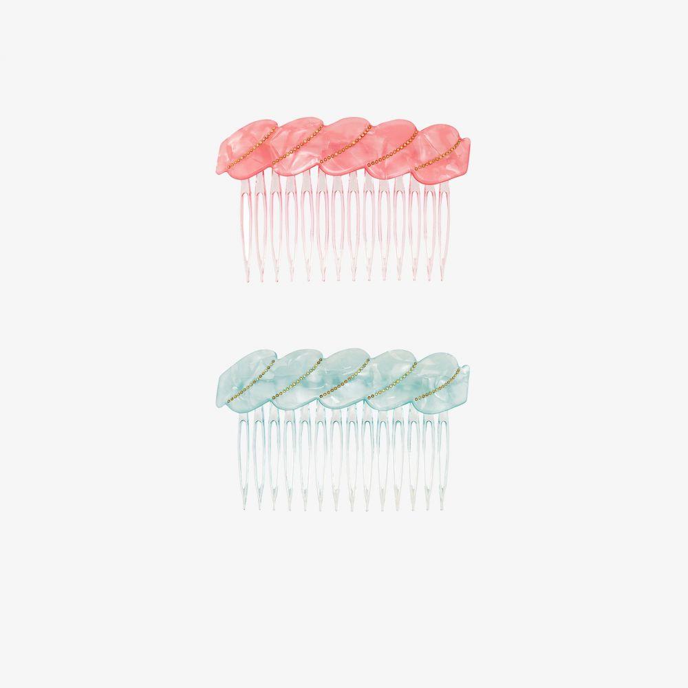 バレット スタジオ Valet Studio レディース ヘアアクセサリー 【Blue and pink Melody hair comb set】blue