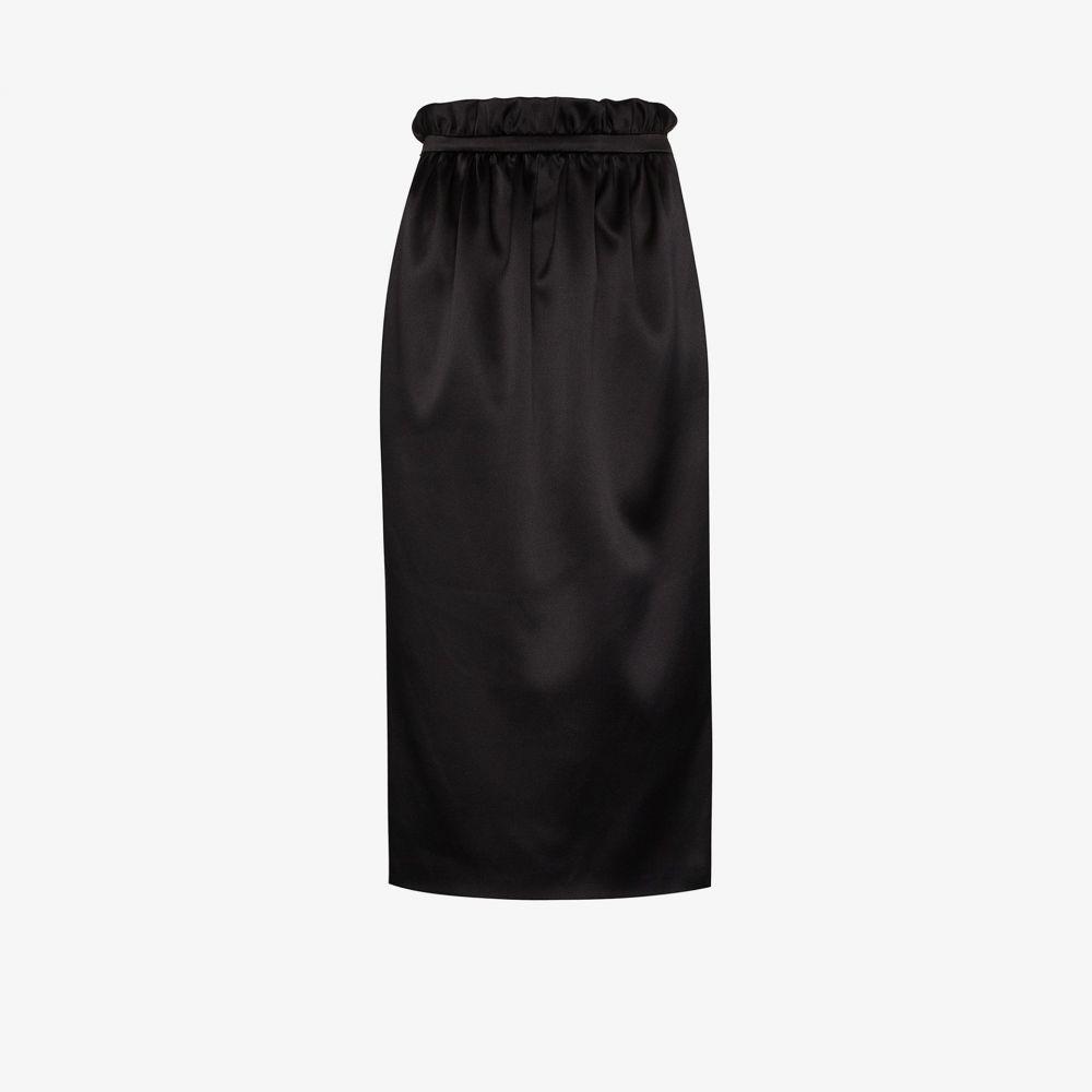 ヴェルサーチ Versace レディース ひざ丈スカート ペンシルスカート スカート【high waist silk pencil skirt】black