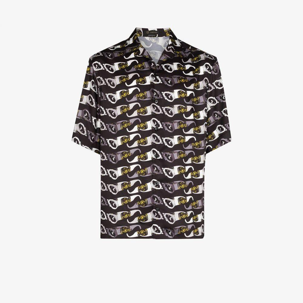 ヴェルサーチ Versace メンズ シャツ トップス【sunglasses print shirt】black