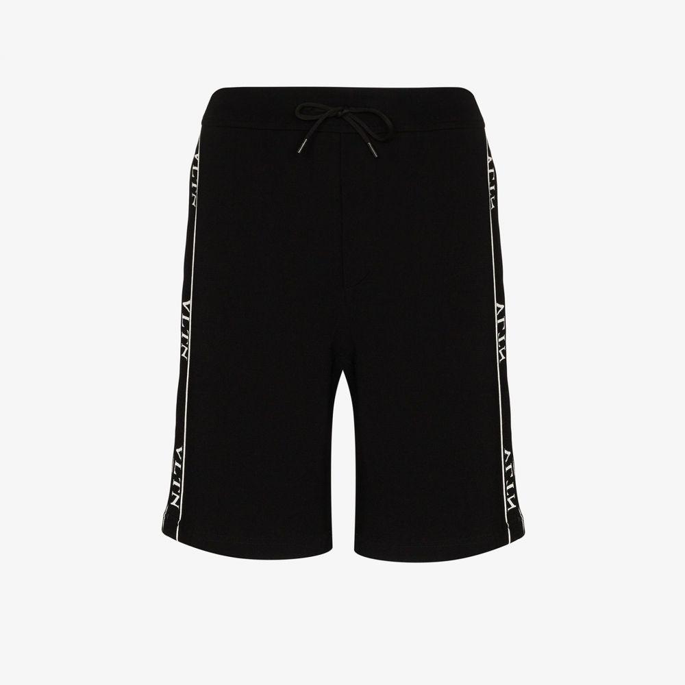 ヴァレンティノ Valentino メンズ ショートパンツ ジャージ ボトムス・パンツ【VLTN logo stripe track shorts】black