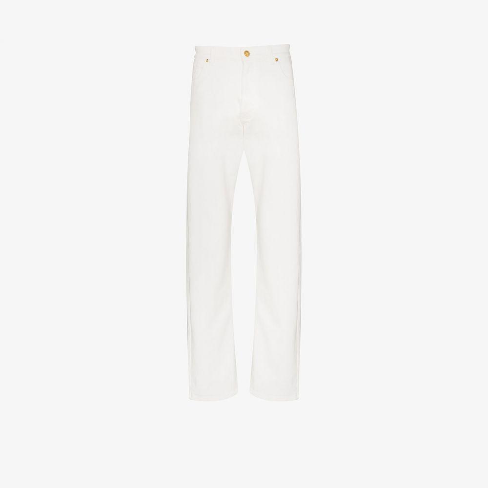 ヴェルサーチ Versace メンズ ジーンズ・デニム ボトムス・パンツ【Logo pocket straight leg jeans】white
