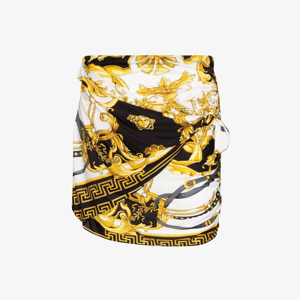 ヴェルサーチ Versace レディース ミニスカート スカート【rodeo queen print gathered mini skirt】black
