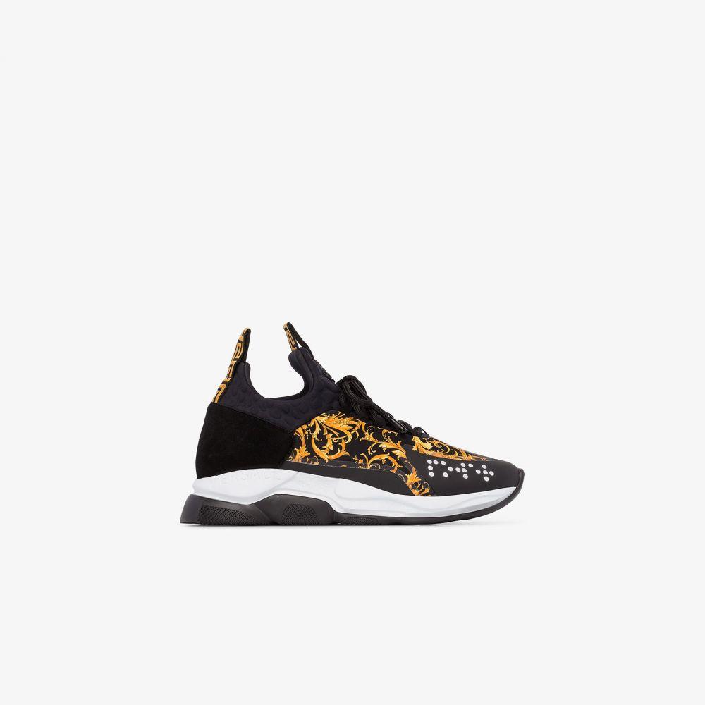 ヴェルサーチ Versace レディース スニーカー シューズ・靴【Black Cross Chainer baroque sneakers】black
