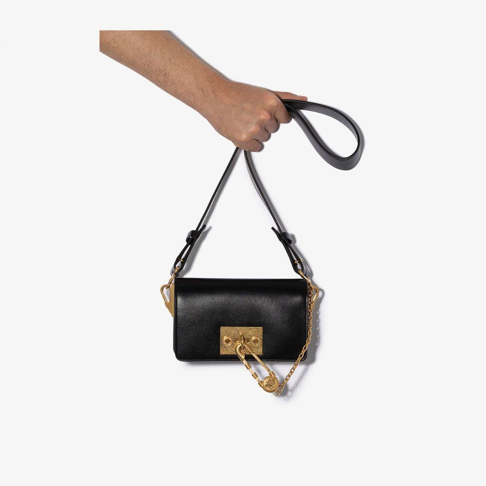 ヴェルサーチ Versace メンズ ショルダーバッグ バッグ【Black Man Purse leather shoulder bag】black