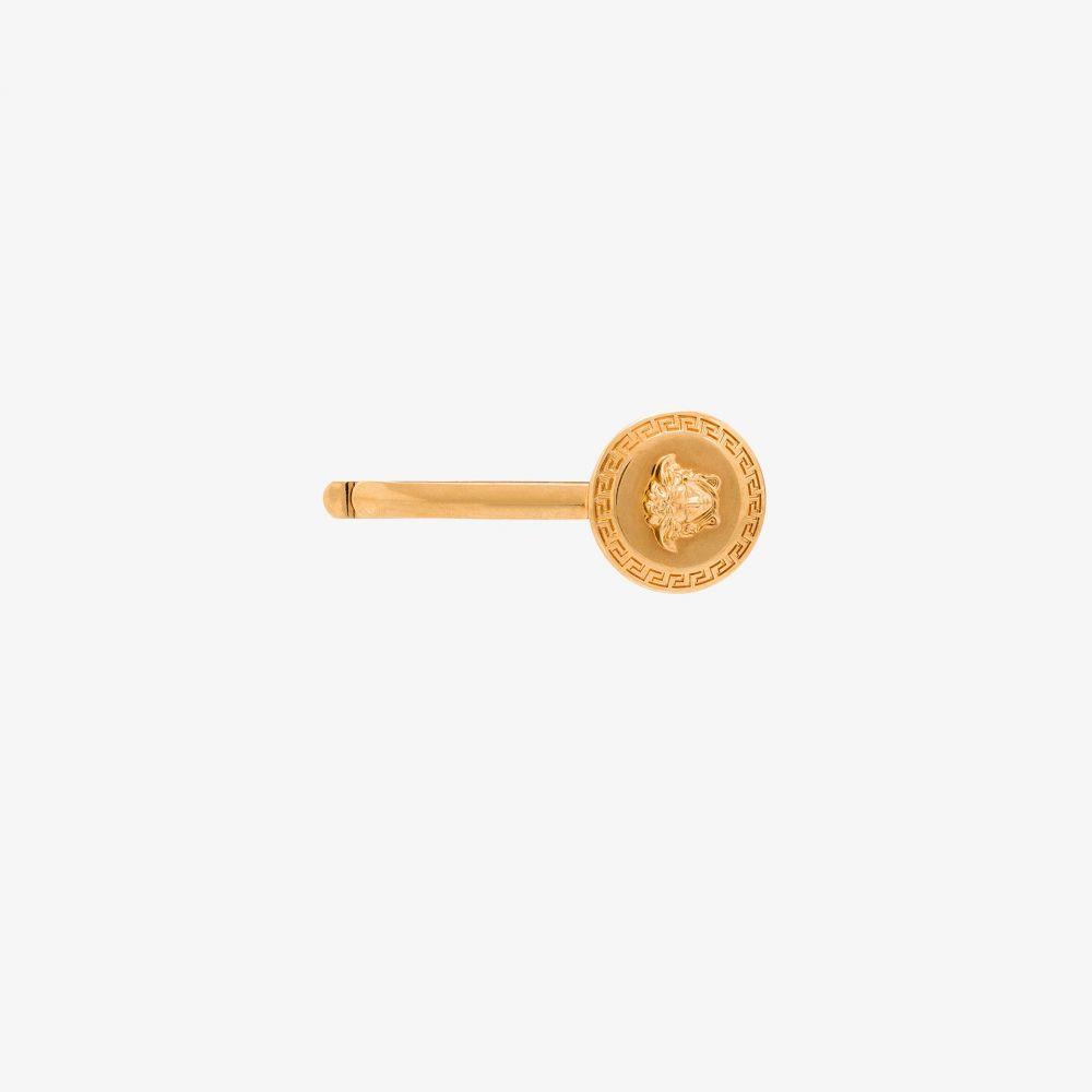 ヴェルサーチ Versace レディース ヘアアクセサリー メデューサ【gold tone Medusa hairpin】gold