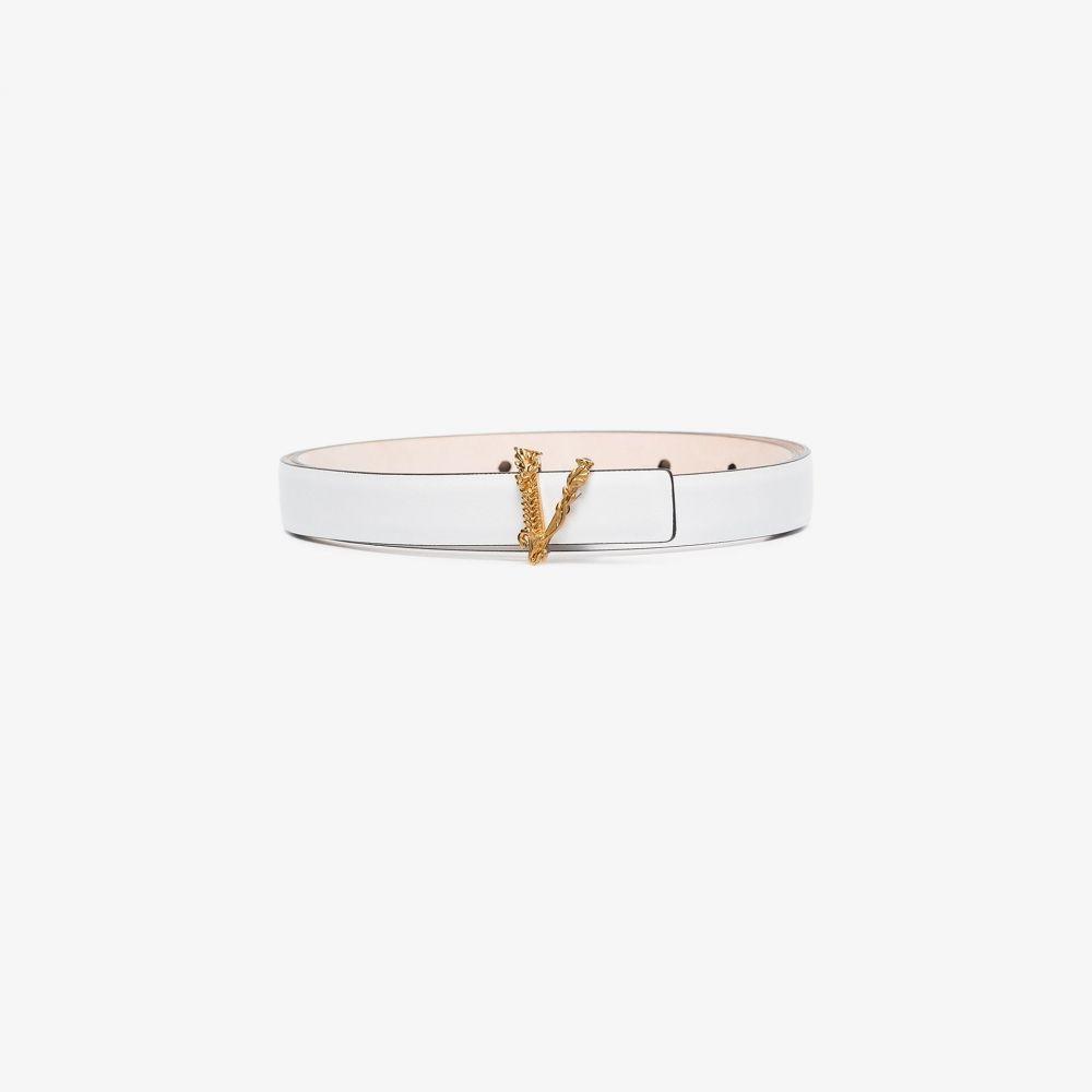 ヴェルサーチ Versace レディース ベルト 【Virtus leather belt】white