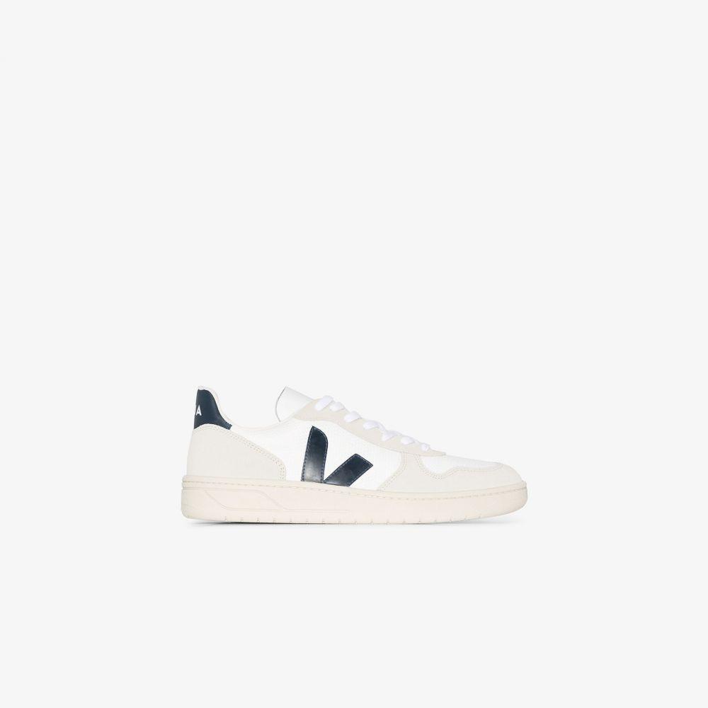 ヴェジャ Veja メンズ スニーカー シューズ・靴【white and navy V-10 B-Mesh sneakers】white