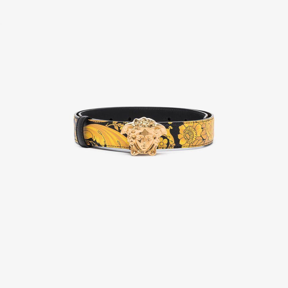 ヴェルサーチ Versace レディース ベルト 【hibiscus print palazzo belt】yellow