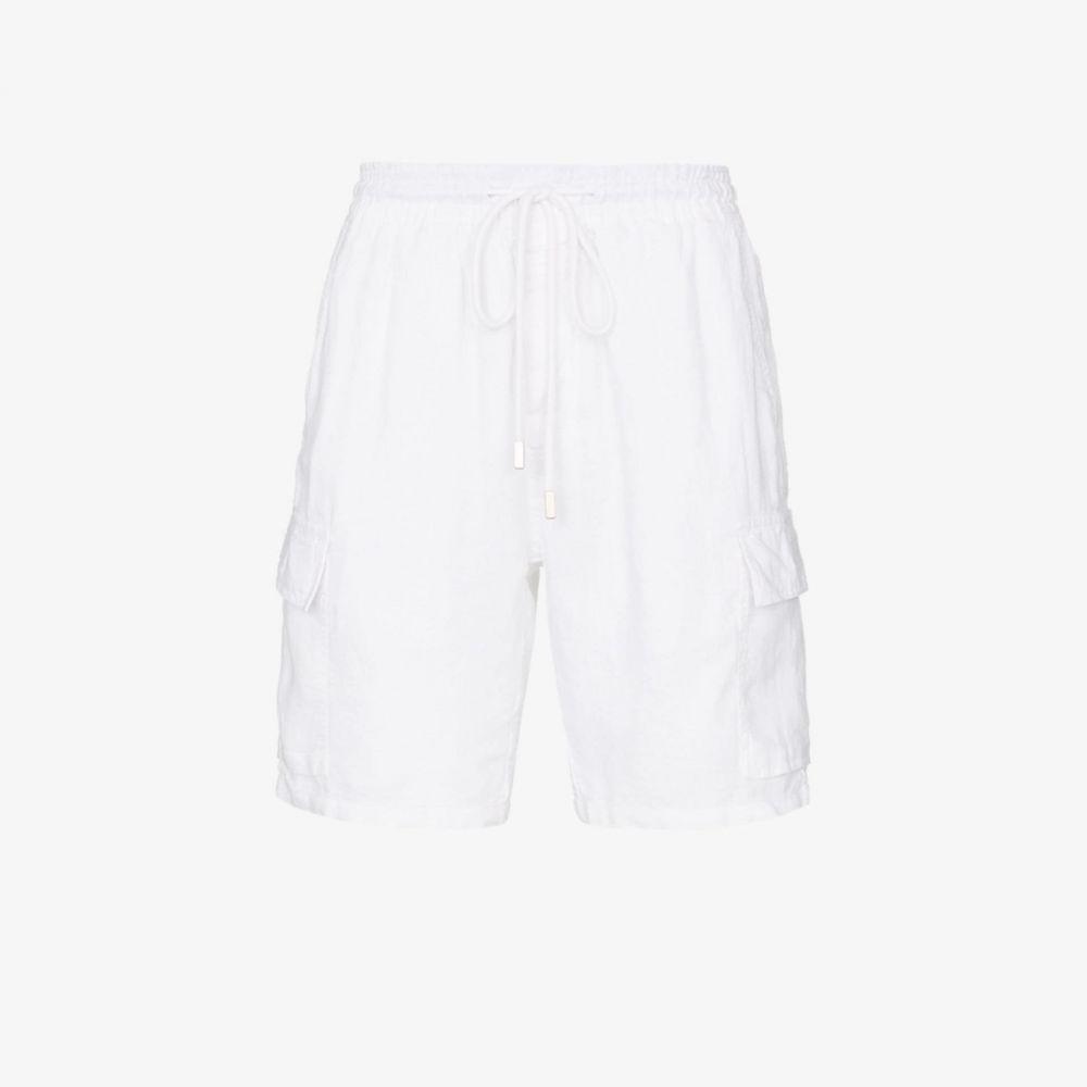 ヴィルブレクイン Vilebrequin メンズ ショートパンツ カーゴ ボトムス・パンツ【baie linen cargo shorts】white