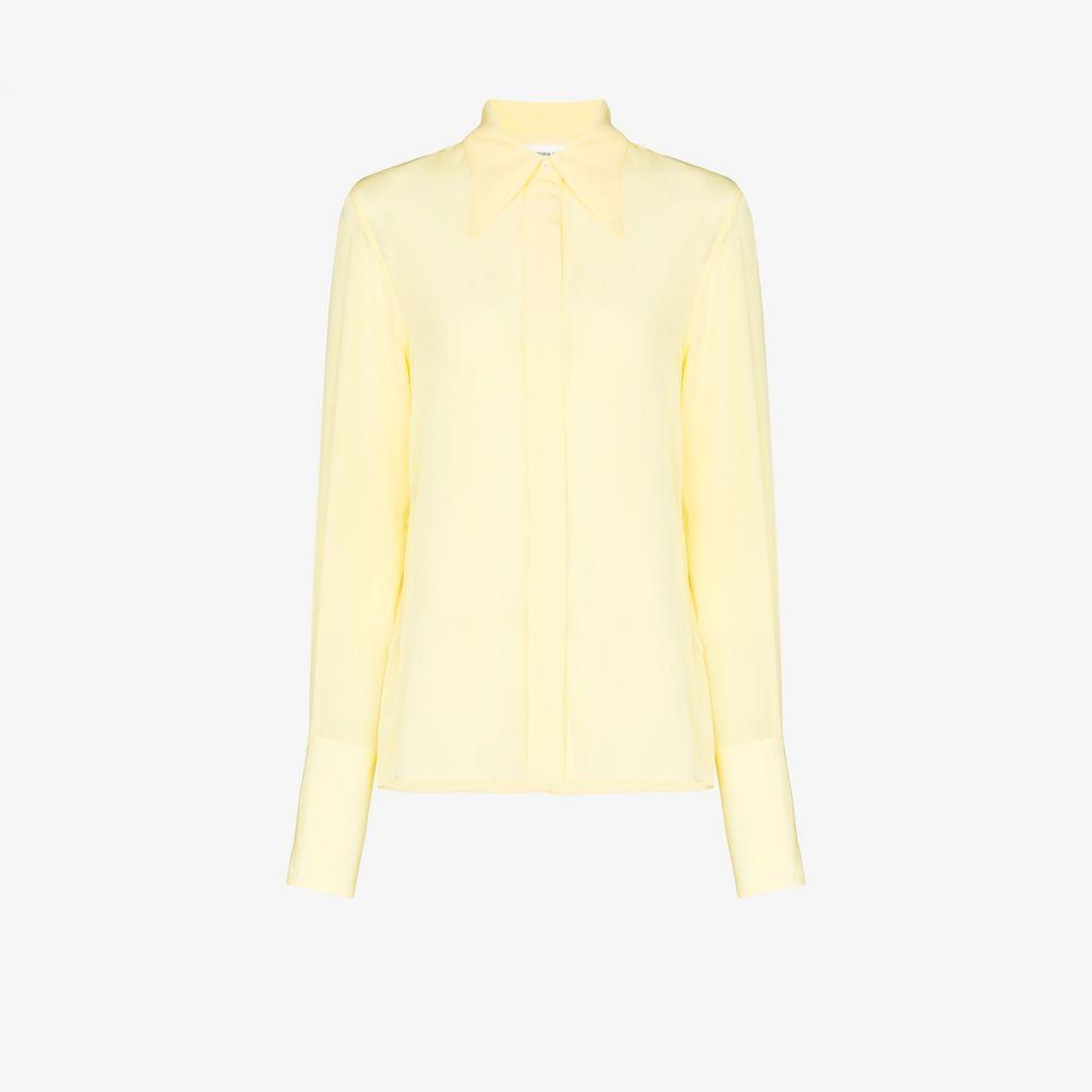 ヴィクトリア ベッカム Victoria Beckham レディース ブラウス・シャツ トップス【cutaway collar shirt】yellow