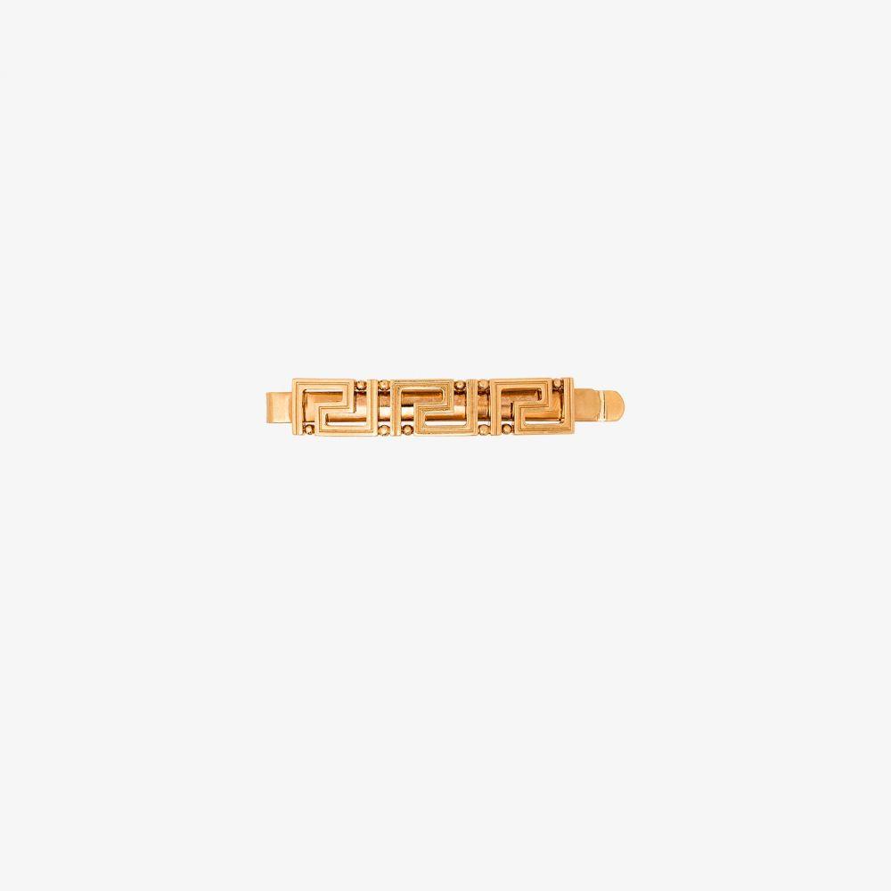 ヴェルサーチ Versace レディース ヘアアクセサリー ヘアクリップ【Gold Tone Geometric Hair Clip】gold