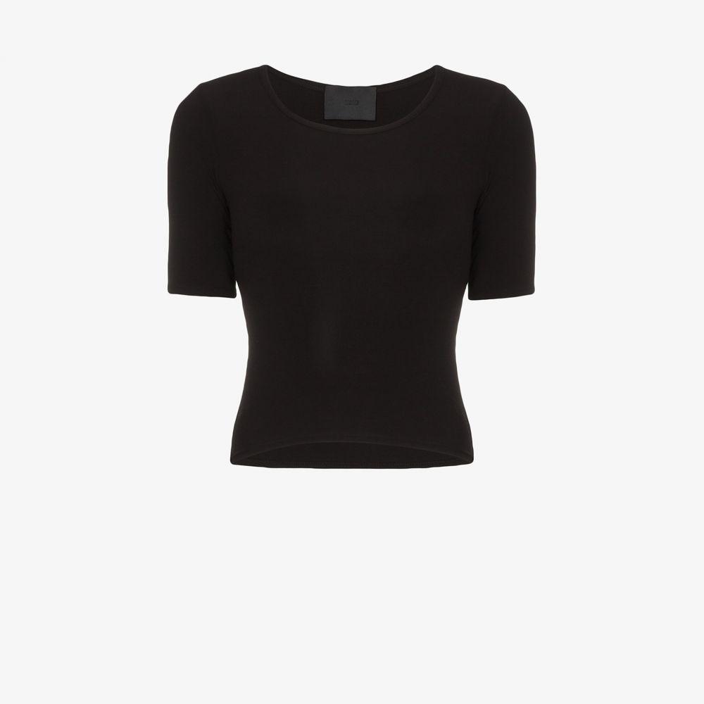 Wone レディース Tシャツ トップス【Crew neck T-shirt】black