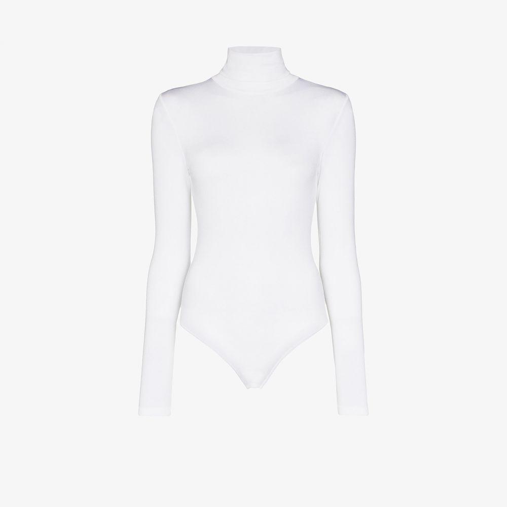 ウォルフォード Wolford レディース ボディースーツ インナー・下着【Colorado string turtleneck bodysuit】white