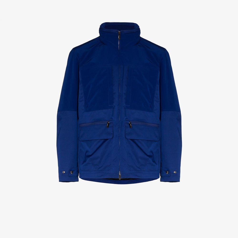 ジーゼニア Z Zegna メンズ ジャケット フード アウター【multi-pocket hooded jacket】blue