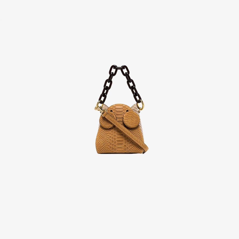 ユゼフィ Yuzefi レディース ショルダーバッグ バッグ【orange snake effect leather shoulder bag】orange
