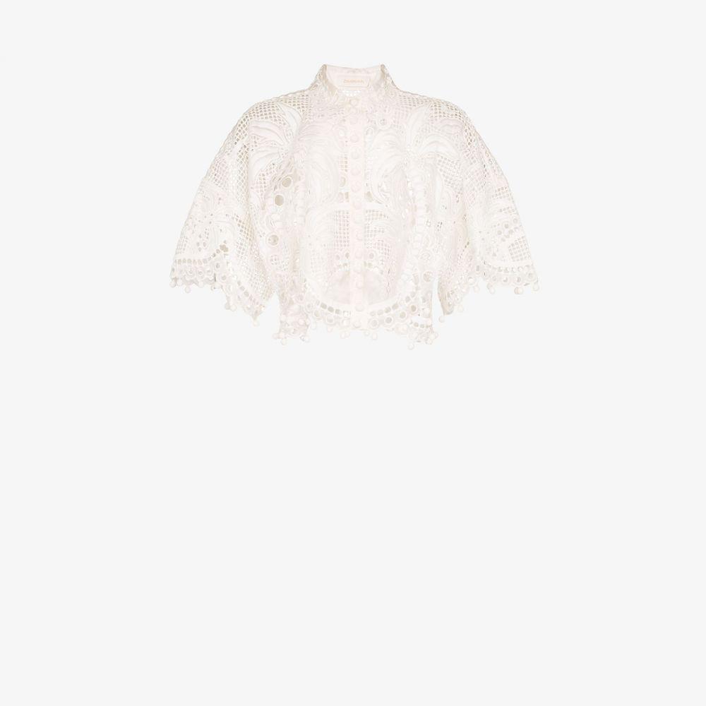 ジマーマン Zimmermann レディース ブラウス・シャツ トップス【Brightside Palm silk blouse】white