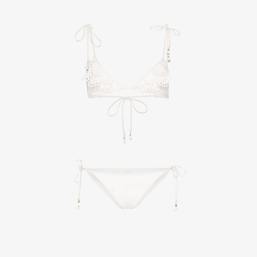 ジマーマン Zimmermann レディース 上下セット 水着・ビーチウェア【Kirra laser cut bikini】white