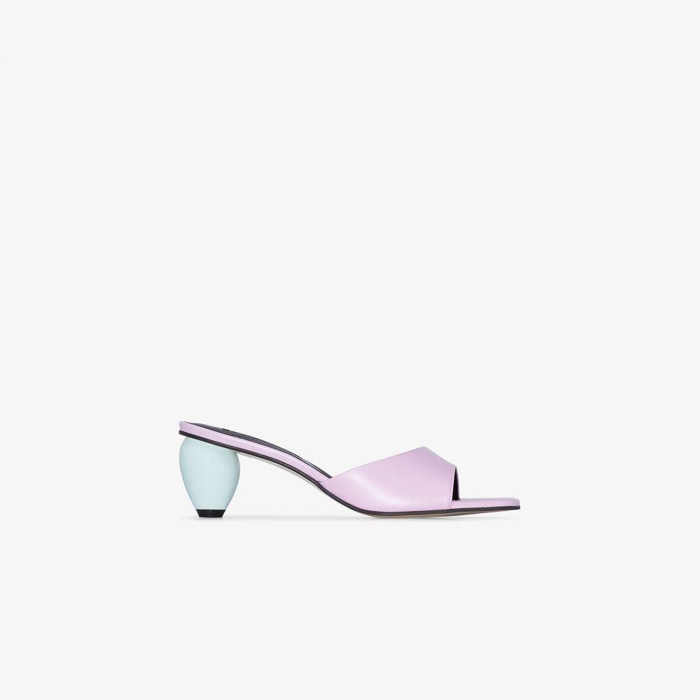 ユルイエ Yuul Yie レディース サンダル・ミュール シューズ・靴【pink June 60 leather mules】pink