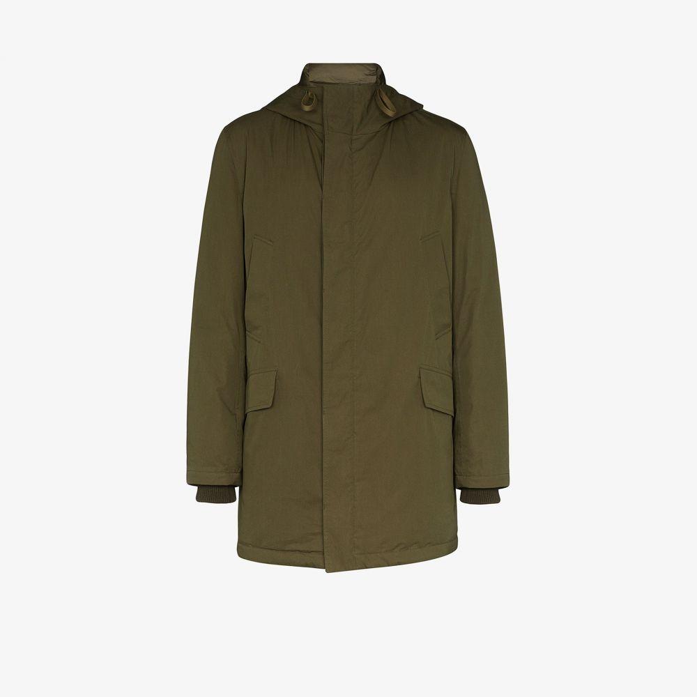 イヴ サロモン Yves Salomon メンズ ダウン・中綿ジャケット フード アウター【Bachette hooded down coat】green