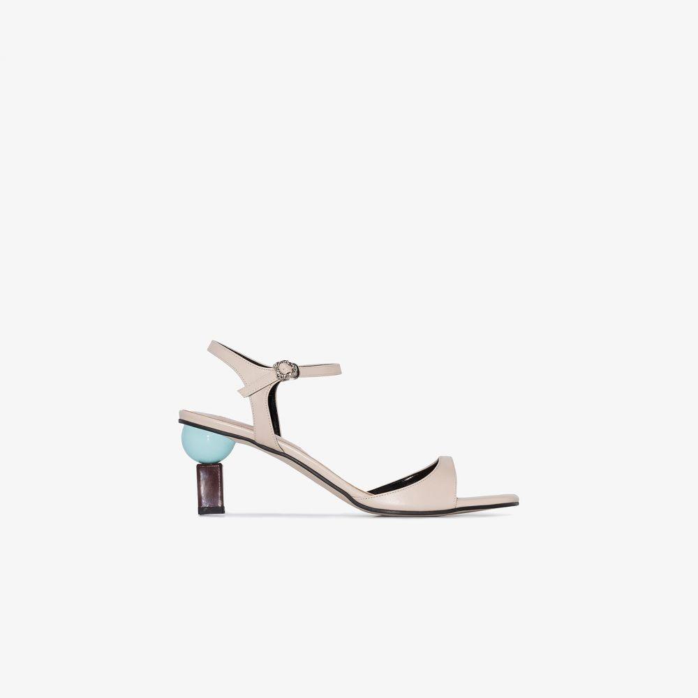 ユルイエ Yuul Yie レディース サンダル・ミュール オープントゥ シューズ・靴【beige Sora 70 open toe leather sandals】neutrals
