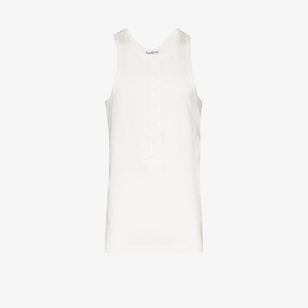 ヨウジヤマモト Yohji Yamamoto メンズ タンクトップ トップス【Button-up tank top】white