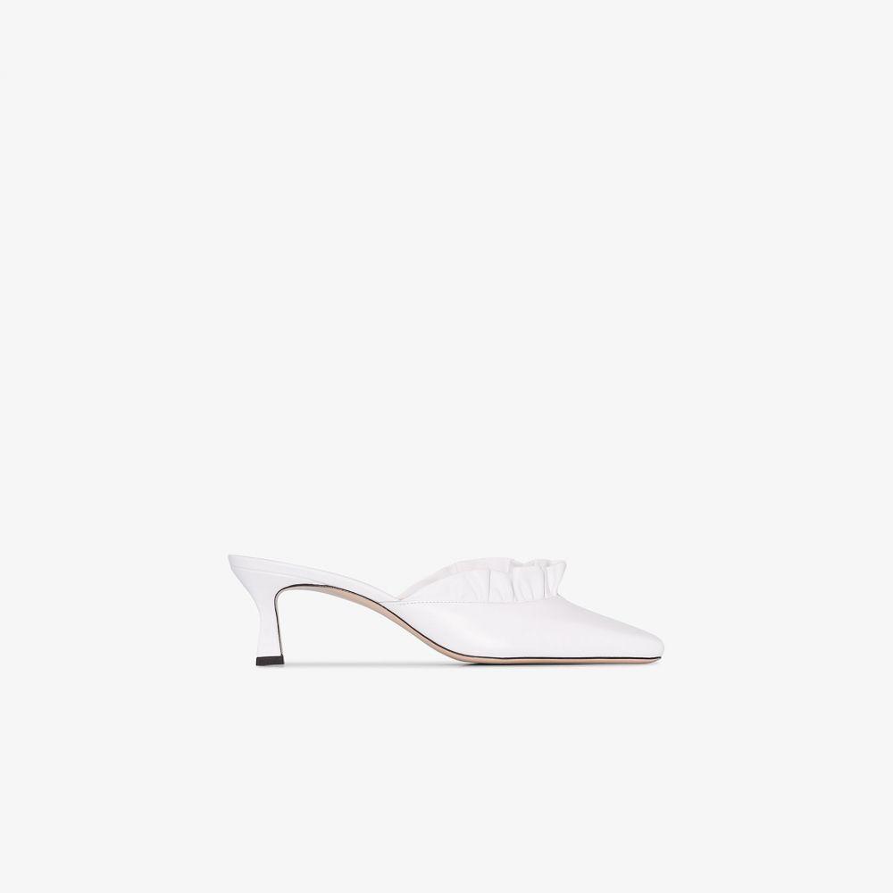 ワンダラー Wandler レディース サンダル・ミュール シューズ・靴【white isa 55 ruffle leather mules】white