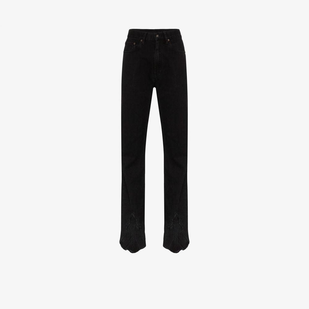 ワイプロジェクト Y/Project レディース ジーンズ・デニム ボトムス・パンツ【straight leg jeans】black