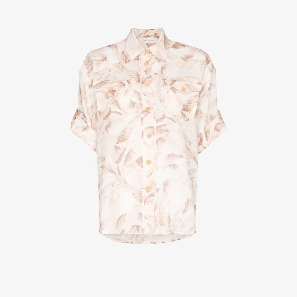 ジマーマン Zimmermann レディース ブラウス・シャツ トップス【Safari print shirt】pink