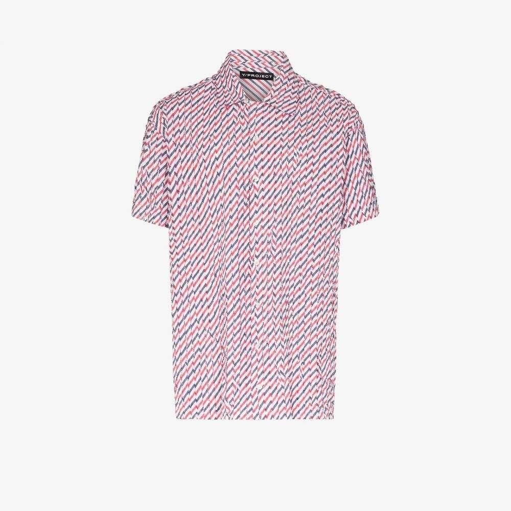 ワイプロジェクト Y/Project メンズ シャツ トップス【striped button-up shirt】blue